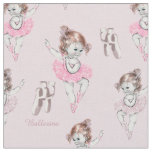 Vintage Ballerina Baby and Ballet Slippers In Pink Fabric