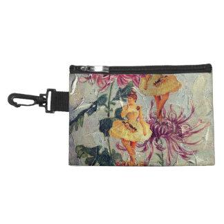 Vintage Ballerina Dancer Floral Painting Accessory Bag