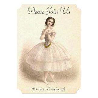 Vintage Ballerina Dancing Ballet Dance Recital Card