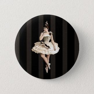 Vintage Ballerina Dark Colors 2 Inch Round Button
