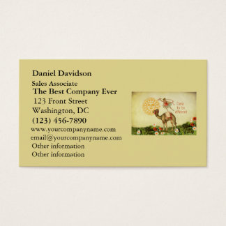 Vintage Ballerina, Flowers, and Camel Collage Business Card