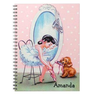 Vintage Ballerina Image Notebook