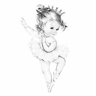 Vintage Ballerina Princess Baby Girl Shower Standing Photo Sculpture