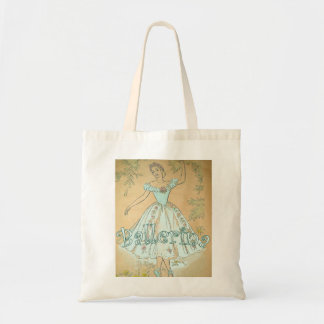 Vintage  Ballerina Tote Bag