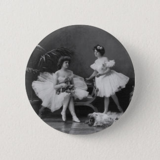 Vintage Ballerinas After the Encore 2 Inch Round Button