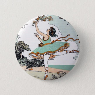 Vintage Ballet Dancer Button