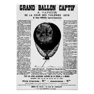 Vintage Balloons Poster