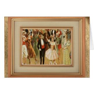 Vintage Ballroom Dance Greeting Notecard