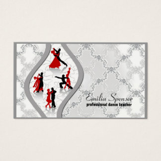 Vintage Ballroom Dance Teacher Business Card