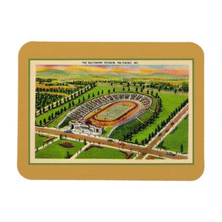 Vintage Baltimore stadium Maryland Magnet
