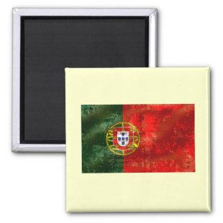 Vintage Bandeira Portuguesa por Fás de Portugal Square Magnet