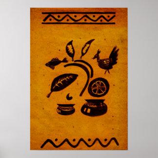 Vintage Bangladeshi Folk Drawing Poster