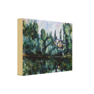 Vintage Banks of the Marne by Paul Cezanne Canvas Print