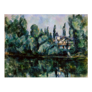 Vintage Banks of the Marne by Paul Cezanne Postcard