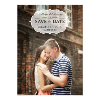 Vintage Banner Save The Date Invitations Personalized Invites
