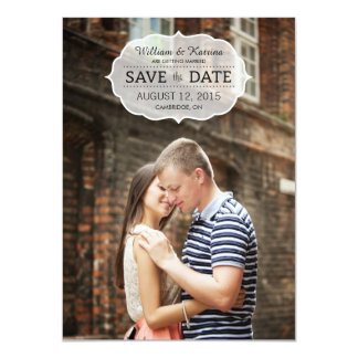 Vintage Banner Save The Date Invitations