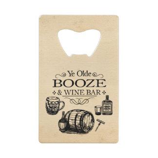Vintage Bar Room Wallet Bottle Opener