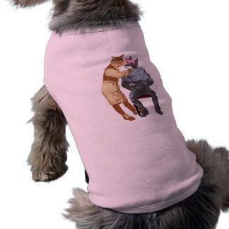 Vintage Barber Cat and Dog Doggie T Shirt
