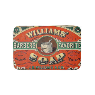 Vintage Barber Soap Small Bath Mat