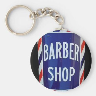 Vintage barbershop sign keychain