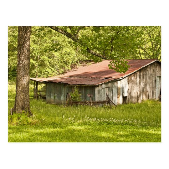 Vintage Barn in Spring Green - Tennessee Postcard