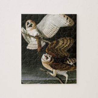 Vintage Barn Owls Illustratation (Audubon) Jigsaw Puzzle