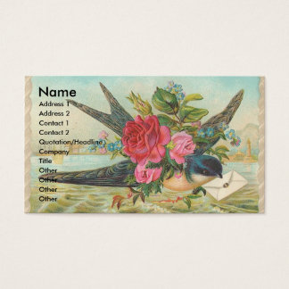 Vintage Barn Swallow Delivers An Envelope Business Card