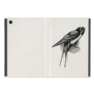 Vintage Barn Swallow Swift Bird Illustration iPad Mini Case