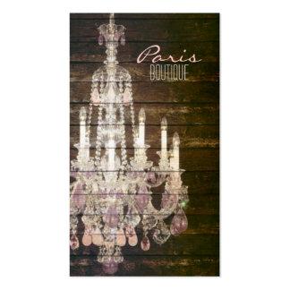 vintage barnwood purple chandelier paris fashion pack of standard business cards