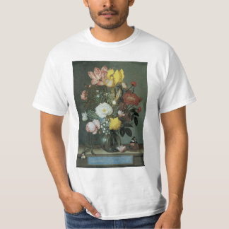 Vintage Baroque, Bouquet of Flowers in Glass Vase T-Shirt