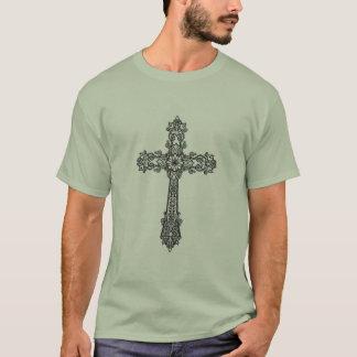 Vintage Baroque Cross Print Tee