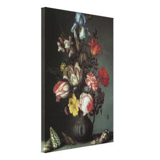 Vintage Baroque Flowers by Balthasar van der Ast Stretched Canvas Prints