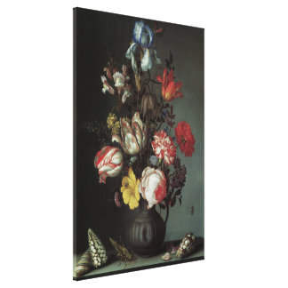 Vintage Baroque Flowers by Balthasar van der Ast Canvas Print