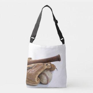 Vintage Baseball and Bat Crossbody Bag
