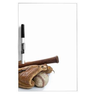 Vintage Baseball and Bat Dry Erase Board
