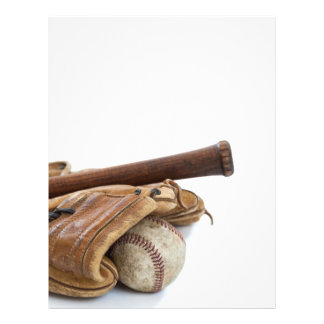 Vintage Baseball and Bat Flyer