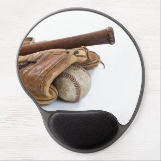 Vintage Baseball and Bat Gel Mouse Pad
