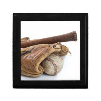 Vintage Baseball and Bat Gift Box