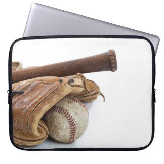 Vintage Baseball and Bat Laptop Sleeve
