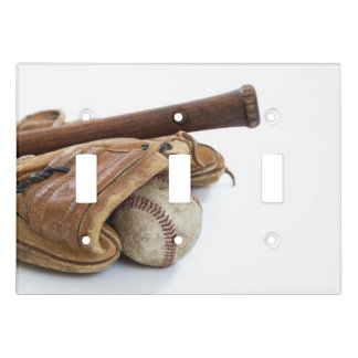 Vintage Baseball and Bat Light Switch Cover