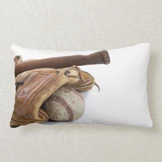 Vintage Baseball and Bat Lumbar Pillow