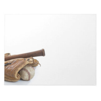 Vintage Baseball and Bat Notepad