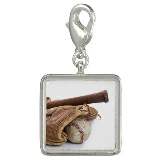 Vintage Baseball and Bat Photo Charm