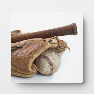 Vintage Baseball and Bat Plaque