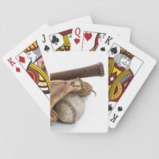 Vintage Baseball and Bat Playing Cards