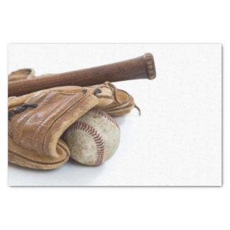 Vintage Baseball and Bat Tissue Paper