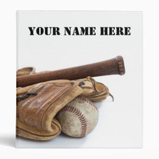 Vintage Baseball and Bat Vinyl Binder