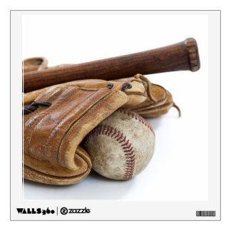 Vintage Baseball and Bat Wall Decal