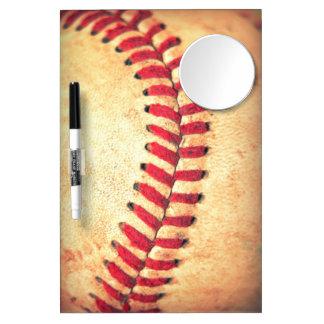 Vintage baseball ball dry erase white board