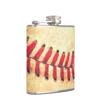 Vintage baseball ball hip flask
